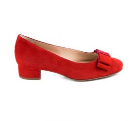 Hassia - Marbella Red Suede Pump