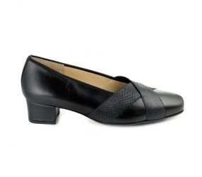 Hassia - Evelyn Black Leather Pump
