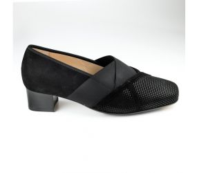 Hassia - Evelyn Black Point Suede Pump