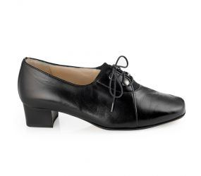 Hassia - Evelyn Black Leather Oxford