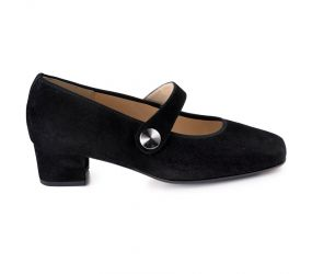 Hassia - Evelyn Black Suede Mary Jane