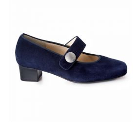 Hassia - Evelyn Navy Suede Mary Jane