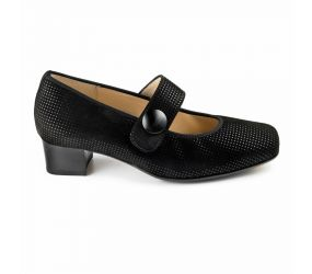 Hassia - Evelyn Black Point Suede MJ