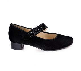 Hassia - Genua Black Suede Mary Jane