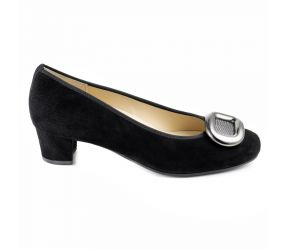 Hassia - Verona Black Suede w/Ornament Pump