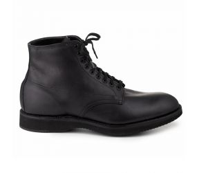 Alden - Contoured Depth Inlay Plain Toe High-Top - Black