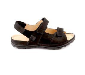 Hartjes - XS Sandy Black Nubuck Sandal