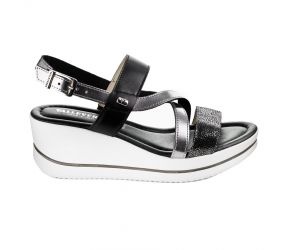 Valleverde - Black Wedge Sandal