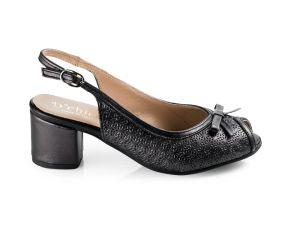 D'Chicas - Black Leather Dress Sandal