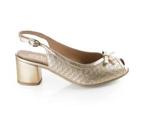 D'Chicas - Platino Leather Slingback Dress Sandal
