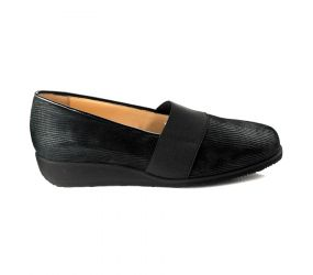 Attica - Black Slip On Wedge
