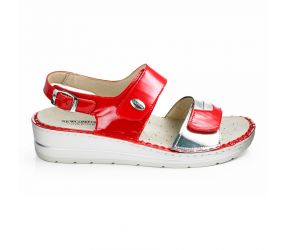Goldstar - Red/Silver Wedge Sandal