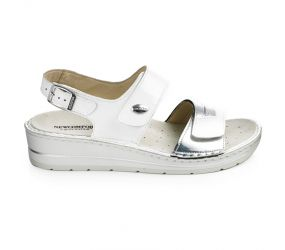 Goldstar - White/Silver Wedge Sandal