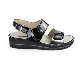 Goldstar - Black/Silver Wedge Sandal