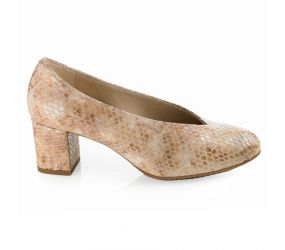 D'Chicas - Beige Bamba Leather Pump