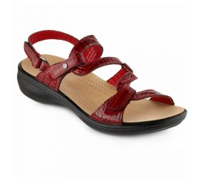 Revere Shoes - Miami Red Croc Sandal