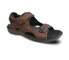 Revere Shoes - Montana II Whiskey Back Strap Sandal