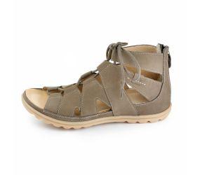 Hartjes - XS Sandy Hazelnut Nubuck Gladiator Sandal