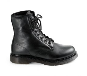Valleverde - Black Leather Military Boot