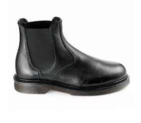Valleverde - Black Leather Chelsea Boot