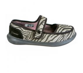 Spenco Mary Jane Black Zebra Print