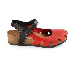 Sabatini - Red Quarter Strap Closed Toe