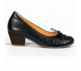 Tape - Aveiro Black Leather Pump
