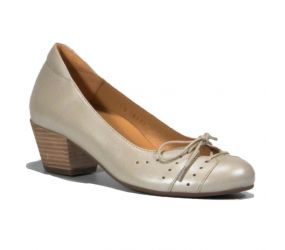 Tape - Aveiro Cream Leather Pump