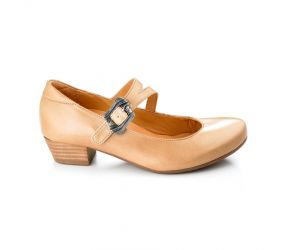Tape - Viseu Beige Leather Mary Jane