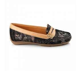 Tape - Aguda Black Snake Loafer