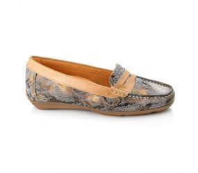 Tape - Aguda Grey Snake Loafer