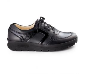 Christian Dietz - Palermo Black Leather Combi Oxford