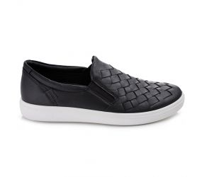 Ecco - Soft 7 Woven Slip On Black
