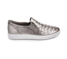 Ecco - Soft 7 Woven Slip On Warm Grey