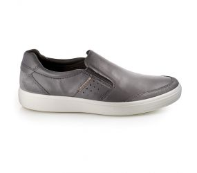 Ecco - Soft 7 Relaxed Slip On Titanium