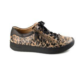 Hartjes - XS Bandy Tobacco/Black Leopard Lace w/ Side Zipper