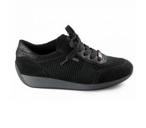 Ara - Lila Black Suede Gore-Tex Oxford