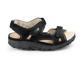 Waldlaufer - Hanni Black Nubuck Sandal