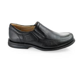 Gaivota - Black Leather Slip On