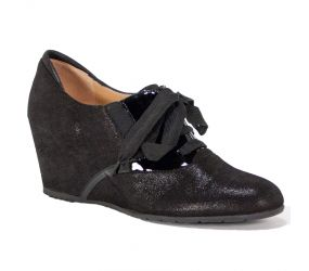 Mafer - Black Shimmer/Pat Wedge Oxford