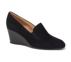 Mafer - Black Suede Wedge Gore Slip On
