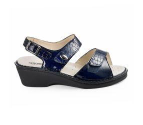 Goldstar - Navy Leather Wedge Sandal