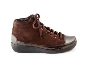 Christian Dietz - Locarno Brown Patent/Suede Chukka
