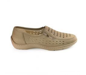 Waldlaufer - Henni Taupe Perf Slip On