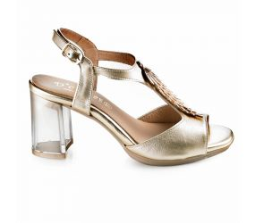 D'Chicas - Platino Leather Dress Sandal