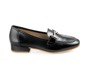 D'Chicas - Black Leather Bit Loafer