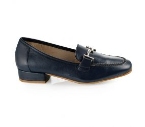 D'Chicas - Navy Leather Bit Loafer