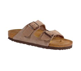 Birkenstock Arizona Taupe Narrow Suede Sandal