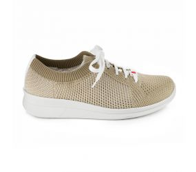Berkemann - Eila Beige/White Knit Oxford