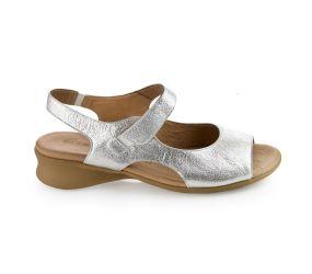 J. Metayer - Aude Wrinkled Silver Sandal